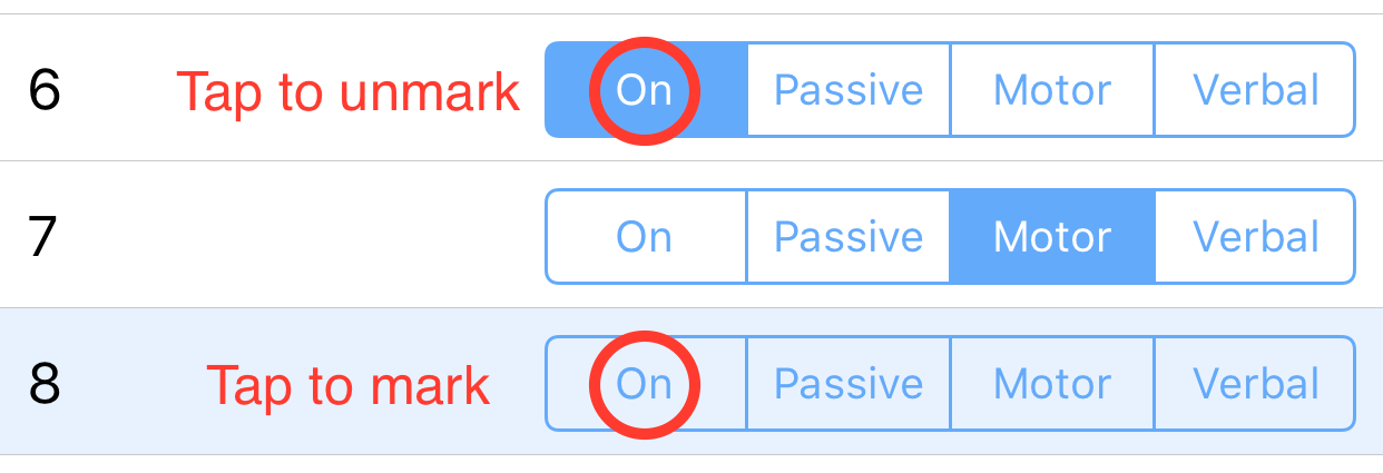 Screenshot demonstrating how to mark and unmark observation